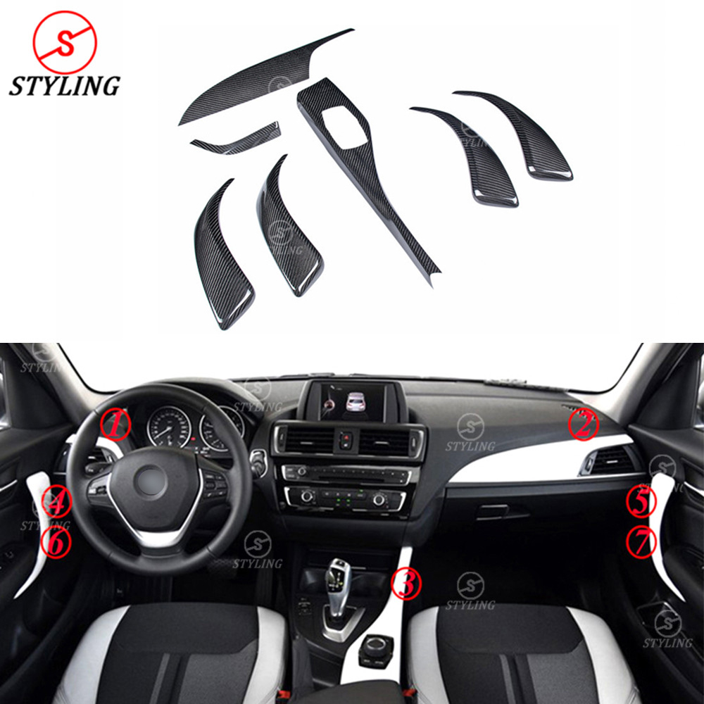 For BMW F20 F21 F22 Carbon fiber interior parts trim cover car sticker for Decoration F20 F22 carbon Interior Trim styling LHD аксессуар frap f22
