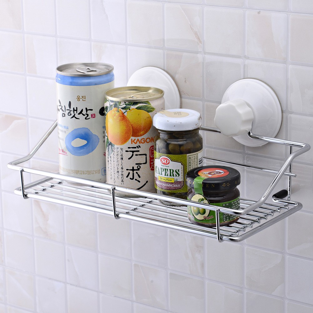 Cheery Strong Suction Cup Well Mounted Bathroom Metal Kitchen Storageher Bathroom Shelf Bathroom Wall Shelf Storage Hers Strong Suction Cup Well Mounted Bathroom Metal Kitchen