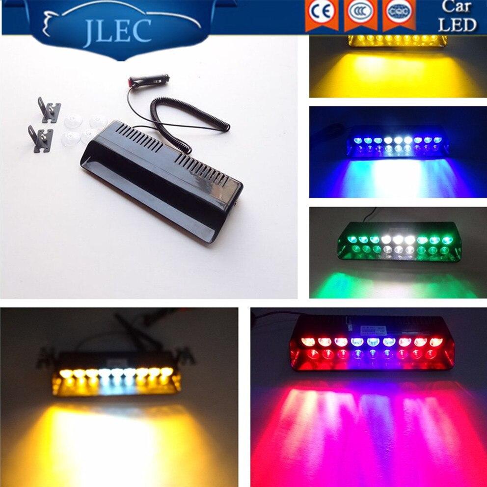 Car Styling Universial 9 LED Strobe Flashing Light Sucker Brightly Lamp Ambulance Police Truck Emergency Light Warning Lightbars