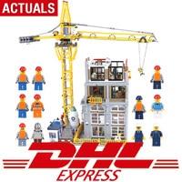15031 натуральная 4425 шт. MOC здание серии Legoing конструкция с краном набор строительных блоков Кирпичи рождественские подарки для детей