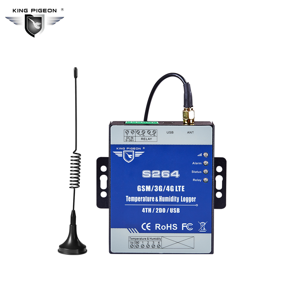 Wireless Temperature Humidity Data Logger 3G 4G LTE Monitoring System Remote Data Acquisition RTU S264