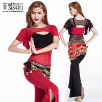 Free shipping, 2017 costume new fashion performance wears short-sleeve Belly dance clothes set for women/female/girl/lady dancer
