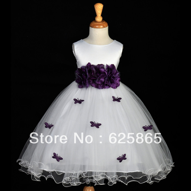 White plum purple butterflies pageant flower girl dress 12m 18m 2 3t white plum purple butterflies pageant flower girl dress 12m 18m 2 3t 4 5t 6 mightylinksfo