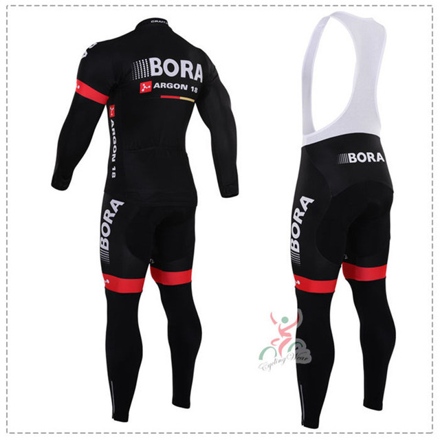 Winter cycling clothing Bora Argon 18 winter thermal cycling jersey long fleece maillot ropa ciclismo winter cycling jersey