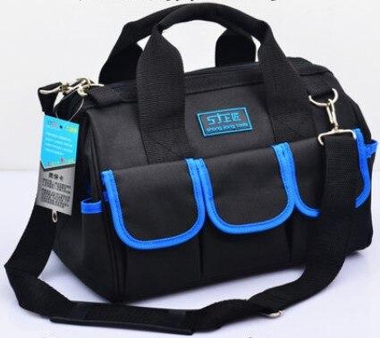 CAMMITEVER Multifunctional Tool Bag Large Capacity Thicken Professional Repair Tools Bag 13 inch Messenger Toolkit Bag