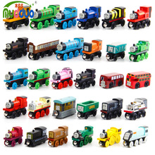 5pcs lot Wooden Magnetic Thomas Circus Train Donald Lady Gordon Tomas and Friends Lorry Track Railway
