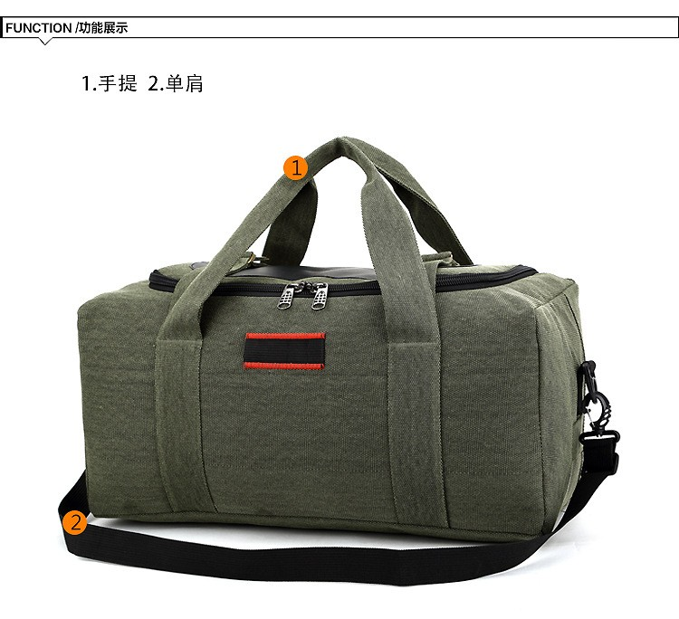 Men Outdoor Casual Canvas Gym Travel Duffel Bag Large Capacity High Quality Messenger Crossbody Shoulder Tote Travel Bags (20)