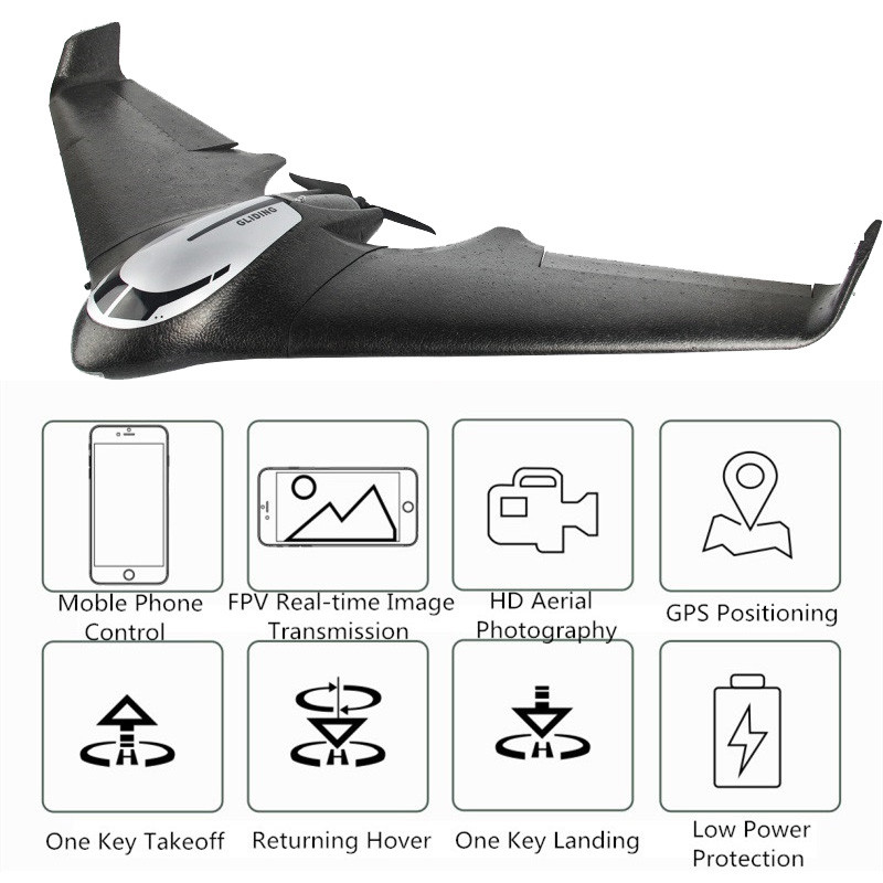 2019 Newest GPS Remote Control Glider RC Airplane 720P/1080P Wifi FPV  Camera With Brushless Motor 40mins Flying GPS Glider Plane