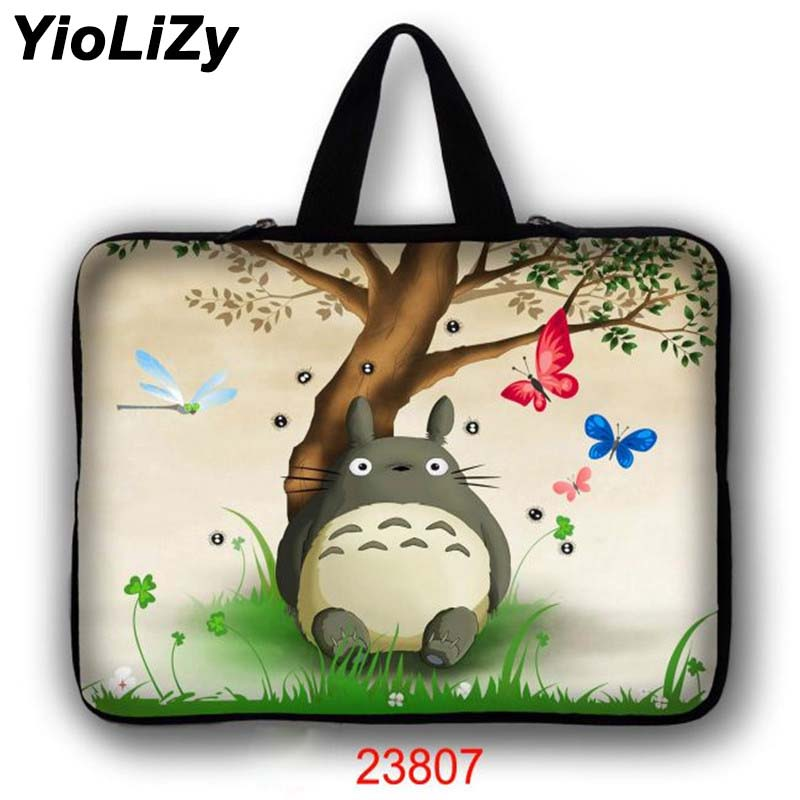 Totoro print laptop bag pouch 7 9.7 11.6 13.3 14 15.6 17.3 inch women notebook sleeve Ultrabook protective case cover LB-23807