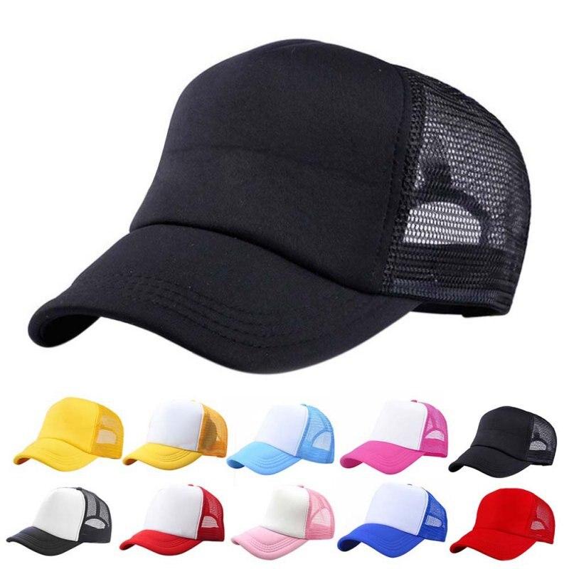 EFINNY Adjustable Child Hats Casual Kids Summer New Classic Trucker Kids Baseball Mesh Cap Children Sun Hat