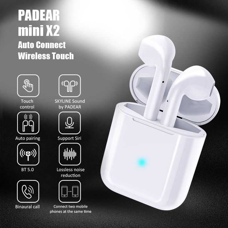PADEAR Mini X2 / i10 tws /x1 Bluetooth Double ear Earbuds Earphone wireless  Headsets pods i9s tws For Iphone Android 6/7/8 X