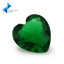 Размер 3x3 ~ 12x12 мм зеленая в форме сердца Свободно сидящий