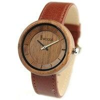 Wood Watches Top Brand Men Watch Genuine Leather Strap Quartz Watch Clock Men Women Wooden Wristwatch