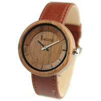 Wood Watches Top Brand Men Watch Genuine Leather Strap Quartz Watch Clock Men Women Wooden Wristwatch