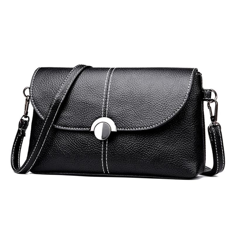 Handbag Office Shoulder-Bag Clutch Black Elegant Famosa Women Lady Marca PU Hasp Bolsos