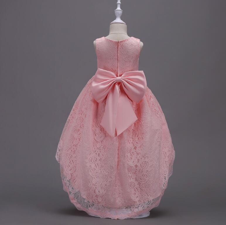 Children's sleeveless performance princess dress girls lace big bow dancing dress Family Matching Outfits R512