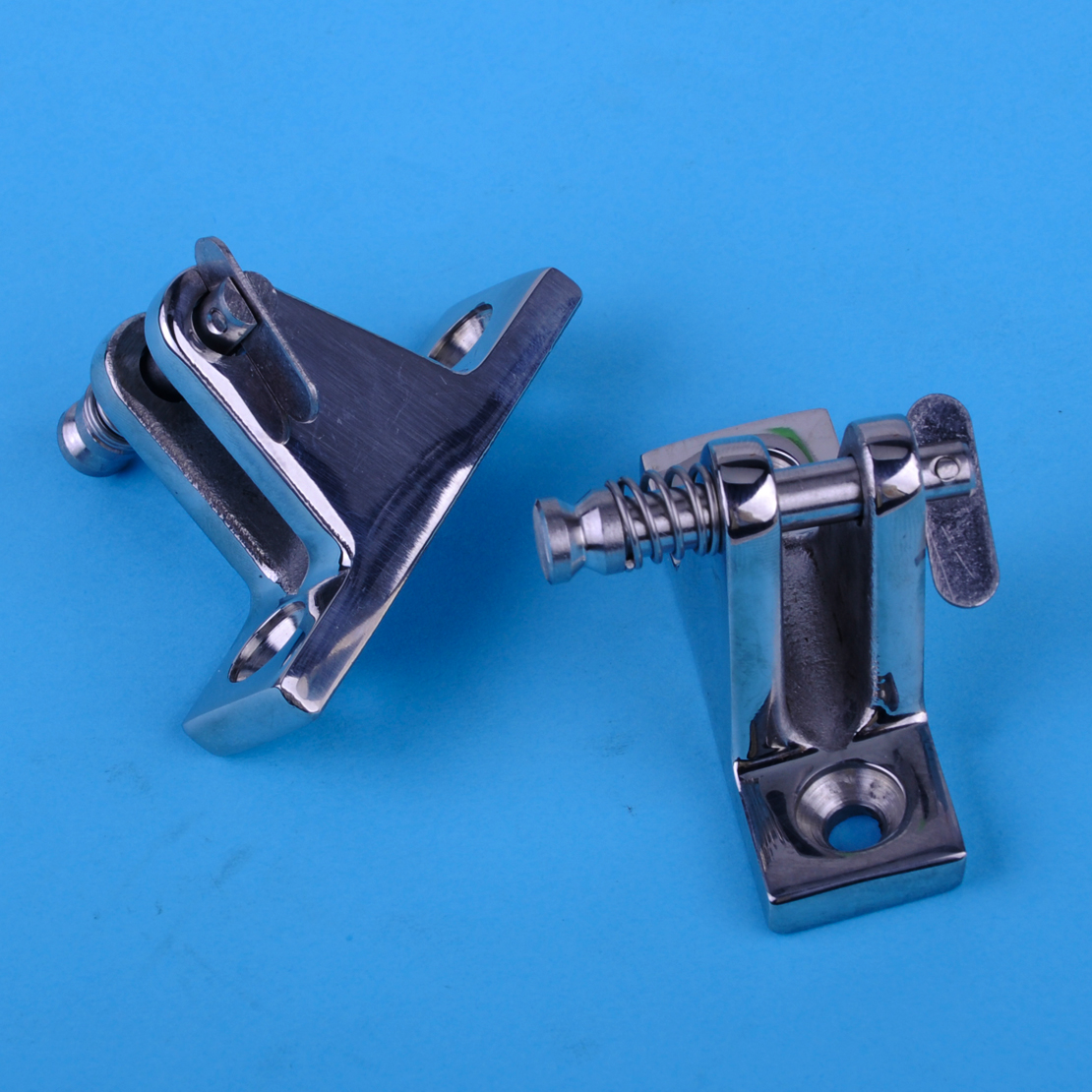 beler 2pcs 90 Degree Stainless Steel Boat Marine Deck Hinge With Quick Release Pin Hardware Fittings