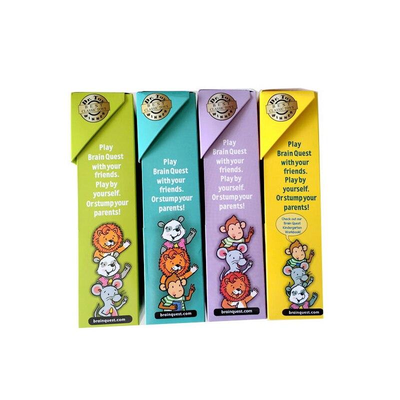 Cerveau Quest Version anglaise de la carte de développement intellectuel autocollant livres Questions et réponses carte Smart Start enfant enfants - 2