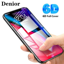 Denior 6D Curved Edge Tempered Glass for iPhone X Screen Protector 6 7 8 Plus 3D Full Glue Cover Film