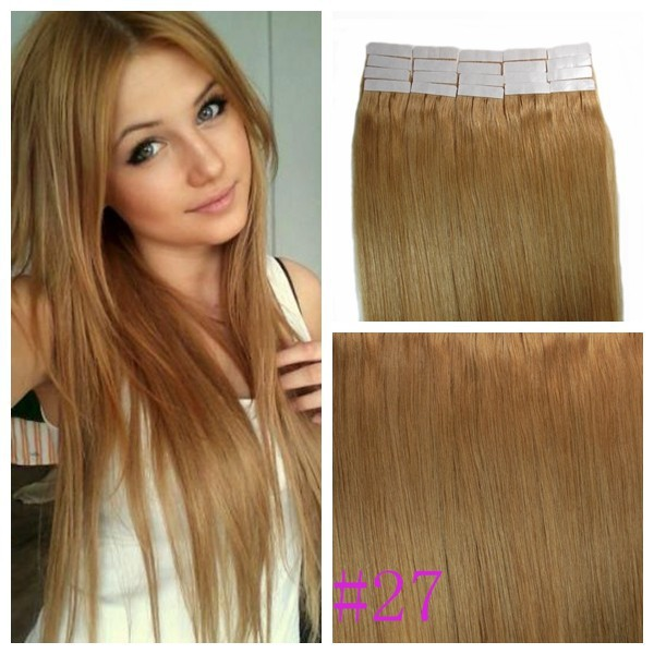 16 24inch 60g Tape Hair Extensions Virgin Remy Hair 3gpiece 4cm