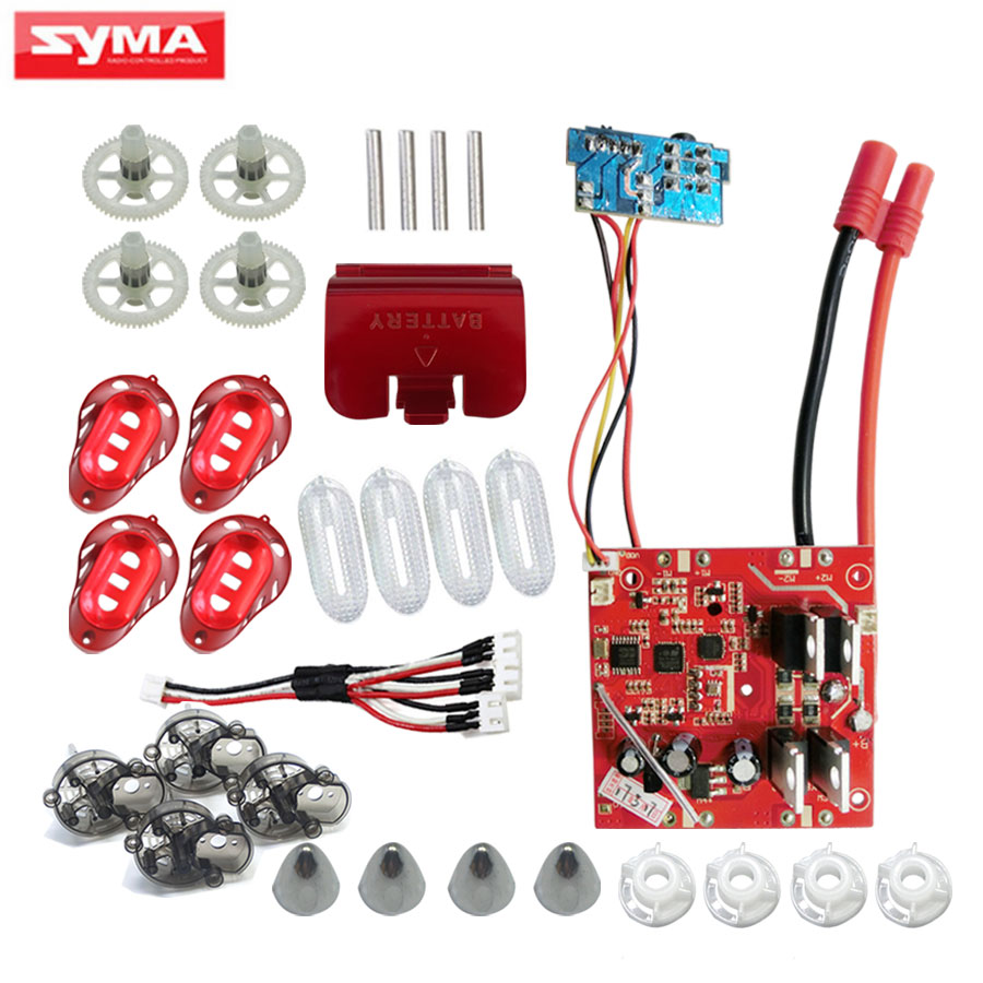 SYMA X8HG X8HW X8HC Spare Parts PCB Circuit board + 2 to 3 Charger + Main Frame + Main gear + Motor cover RC Quadrocopter Parts салфетки hi gear hg 5585