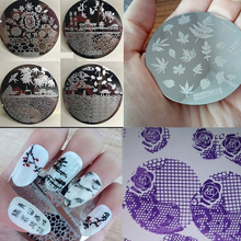 HEHE Series 180 Design Round Nail Art Stamp Stamping Plates Template Set Cartoon/Flowers Lace Image 5.5cm Manicure Plate