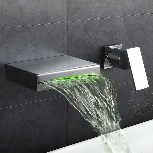 Washbasin Design Bathroom Faucet Mixer Waterfall Hot & Cold Water Taps for Basin of Bathroom ...