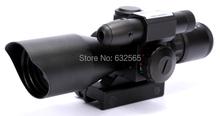Wholesale 2.5-10X40 Rifle Scope with Mil-Dot Reticle and side mounted combo green laser airgun rifle for guns and weapons