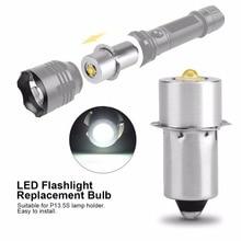 ضوء LED ترقية لمبة ل D + C خلية مشاعل P13.5S كري XPG2 0.5 واط 1 واط 3 واط 5 واط 3 فولت DC4 12V/6 24 فولت LED استبدال الشعلة لمبات