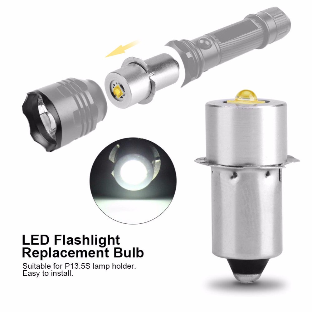 LED Upgrade Bulb For D+C cell flashlights <font><b>P13.5S</b></font> CREE XPG2 0.5W 1W <font><b>3W</b></font> 5W 3V DC4-12V/6-24V LED Replacement Torch Bulbs image