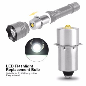 Image 1 - LIGHEART LED Upgrade Bulb For D+C cell flashlights P13.5S CREE XPG2 0.5W 1W 3W 5W 3V DC4 12V/6 24V LED Replacement Torch Bulbs