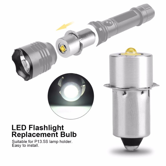 LIGHEART LED Upgrade Bulb For D+C cell flashlights P13.5S CREE XPG2 0.5W 1W 3W 5W 3V DC4 12V/6 24V LED Replacement Torch Bulbs