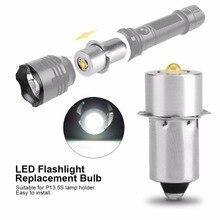 LIGHEART LED yükseltme ampul için D + C hücre el feneri P13.5S CREE XPG2 0.5W 1W 3W 5W W 3V DC4 12V/6 24V LED yedek meşale ampuller