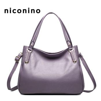 Female Shoulder Bag Cowhide Genuine Leather Bag Luxury Designer Handbag Crossbody Messenger Bag Tote For Women 2018