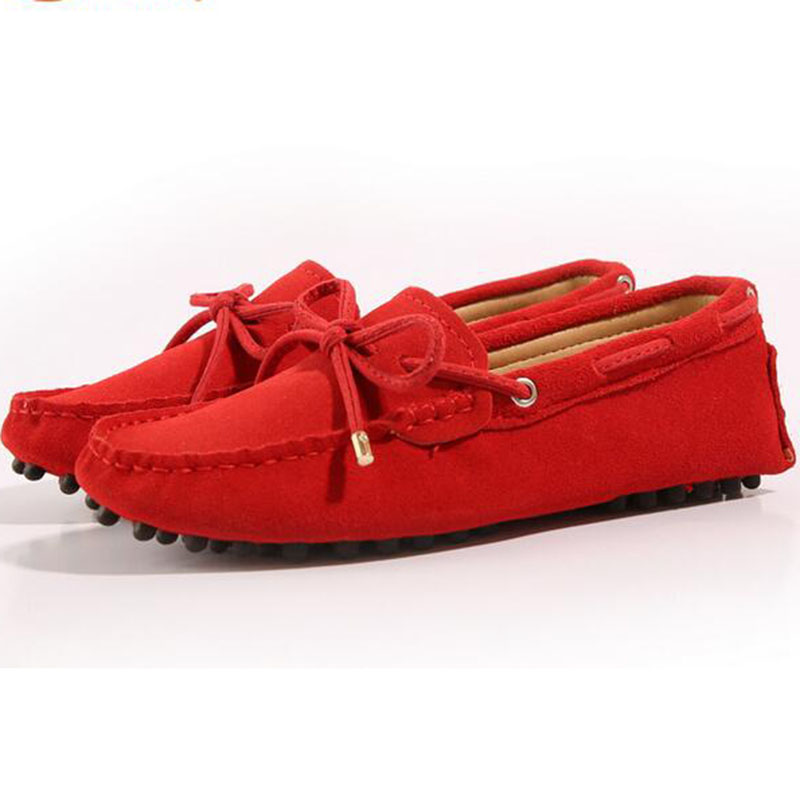 font b Woman b font Designer Creepers Genuine Leather Big Size Flat Shoes Round Toe