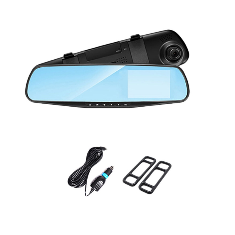 Car DVR Driving-Recorder Memory-Card Rearview-Mirror Right-Screen Single-Lens 1080P Full-Hd