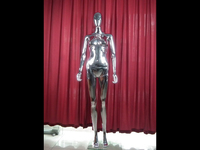 factory direct sale ABS plastic female chrome clothes display model for showcase