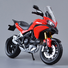DMH MULTISTRADA 1200S White 1:12 scale models Alloy motorcycle racing model Toys Gift Toy