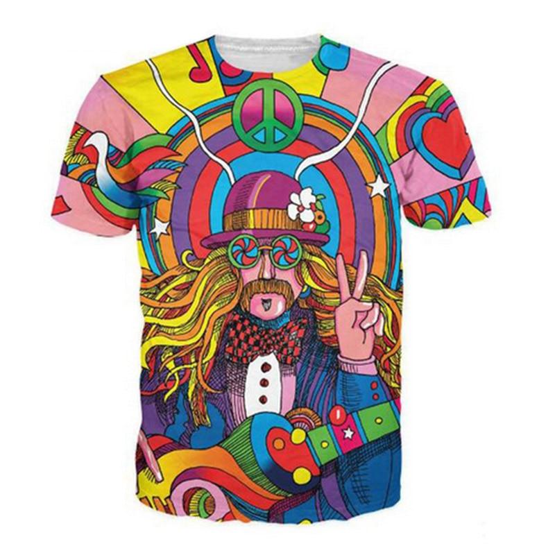 Camiseta de verano Camiseta de músico hippie Camiseta 3D Camiseta de - Ropa de hombre