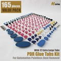 165 pieces PDR Tools Glue Pulling Tabs PDR Glue Tabs Auto Body Dent Repair Tool Pulling Tabs(TAB-165)
