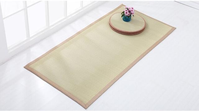 Fußboden Schlafzimmer Yoga ~ Natürliche stroh große dicke breite yoga matte cm