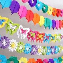 Красочные детские душ бумажные цветы партия событие поставки искусственные цветы на день рождения декорации для вечеринок дети Свадебные Украшения