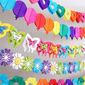 Colorful baby shower paper flowers event party supplies artificial flowers birthday party decorations kids Wedding Decoration