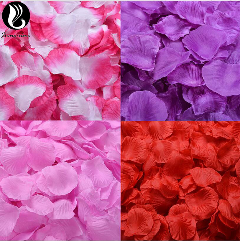 Rose Petals For Wedding Colorful Silk Flowers Artificial Flower Wedding Accessories Wedding Petals Petalos De Rosa De Boda BV266 artificial flower bunch with 9pcs rose