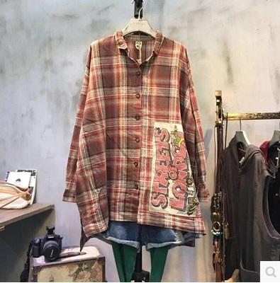 Lanzamiento de nuevos productos de la primavera de 2016, el diseño original ropa de ocio sueltos yardas grandes de algodón femenina Camiseta