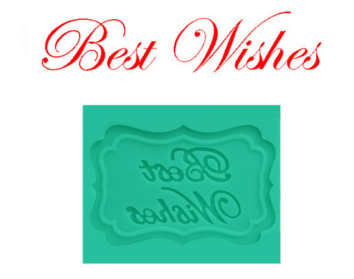"""Best Wishes"""" Words DIY Silicone Mold Chocolate Cake Decorating ..."""
