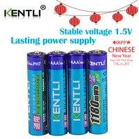 KENTLI 4pcs No Memory Effect 1 5v 1180mWh AAA Lithium Li Ion Rechargeable Batteries Battery
