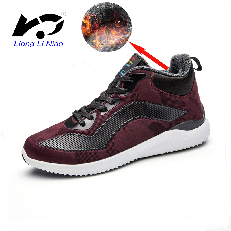 2017 Winter Men Women Boots Warm Plush Sneakers Brand Outdoor Unisex Sport Shoes Comfort ...
