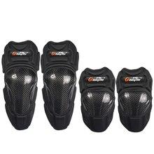 Motocicleta rodillera codo pad moto racing carbon fiber montando equipos de protección Protección armor HPHX18
