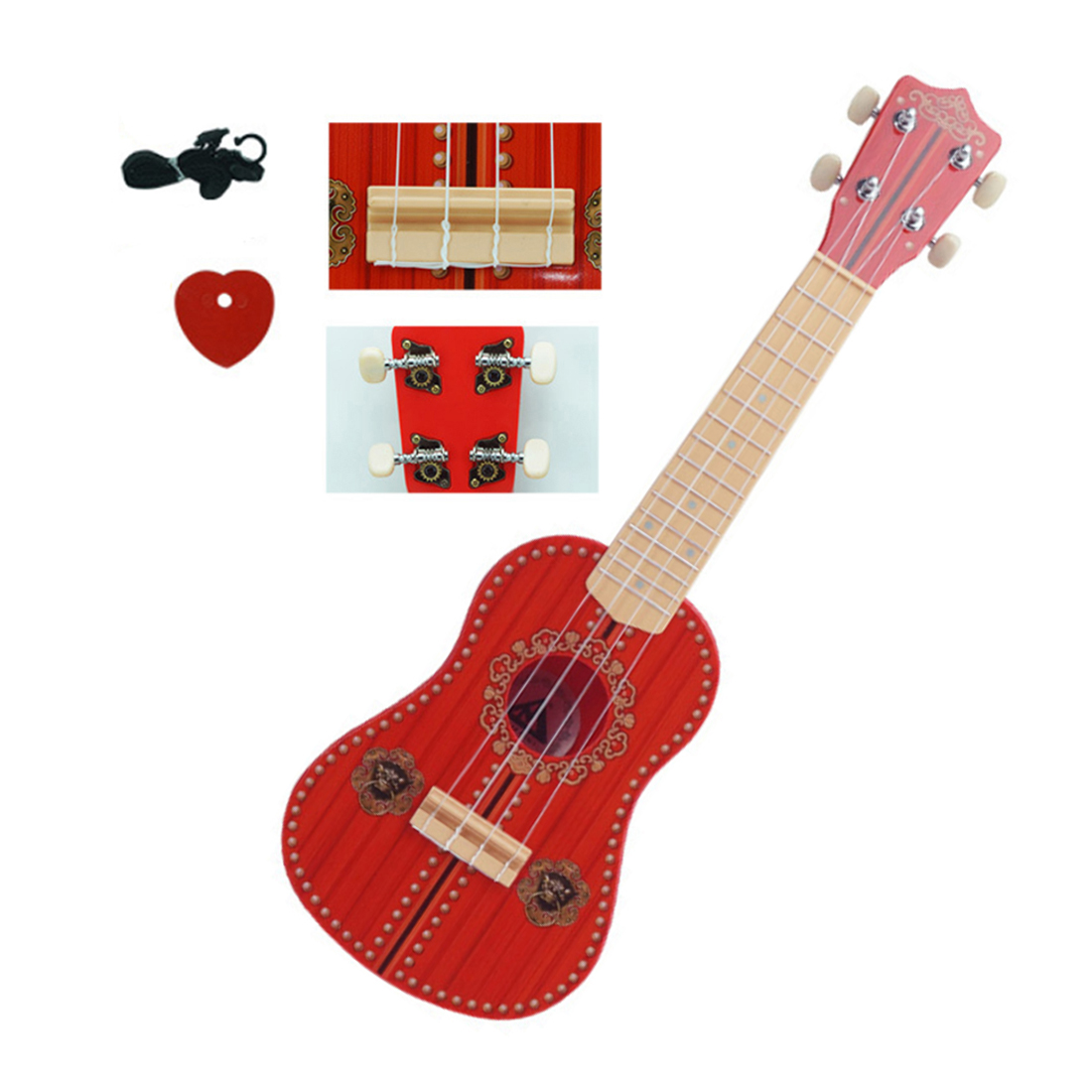 Surwish 186 Series Children Early Education Musical Instrument Guitar Ukulele with 4 Strings Support Kid Learning Kit цена